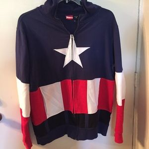 Marvel Captain America zip jacket - NWOT